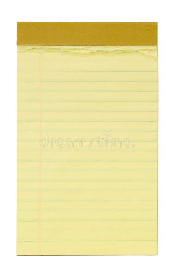 prążkowanego notepad mały żółty obrazy stock