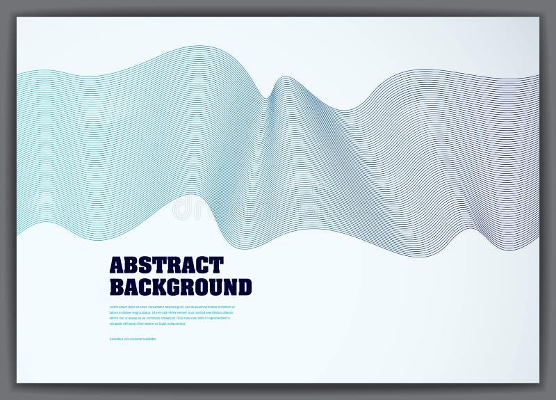 Prążkowanego wektor fala tła rzadkopłynny przepływ 3d lampasów dynamiczny moti ilustracji