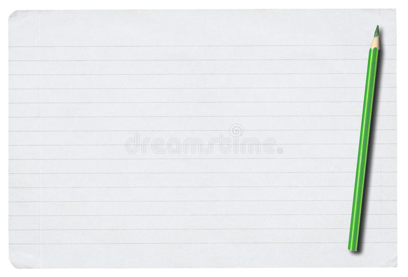 prążkowany papieru ołówka kawałka biel obraz royalty free