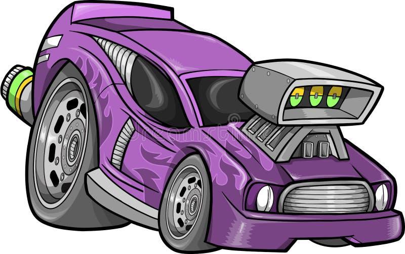prącie samochodowy gorący biegowy wektor royalty ilustracja