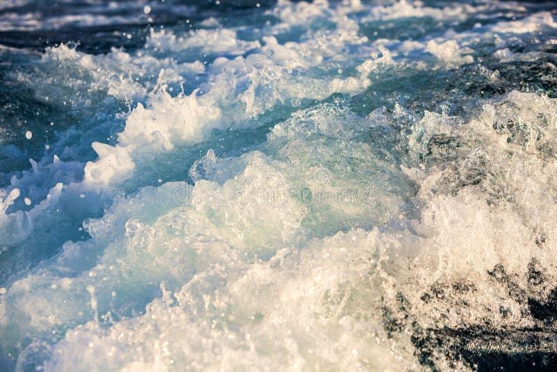 Prędkość łódkowaty kilwater zdjęcie royalty free