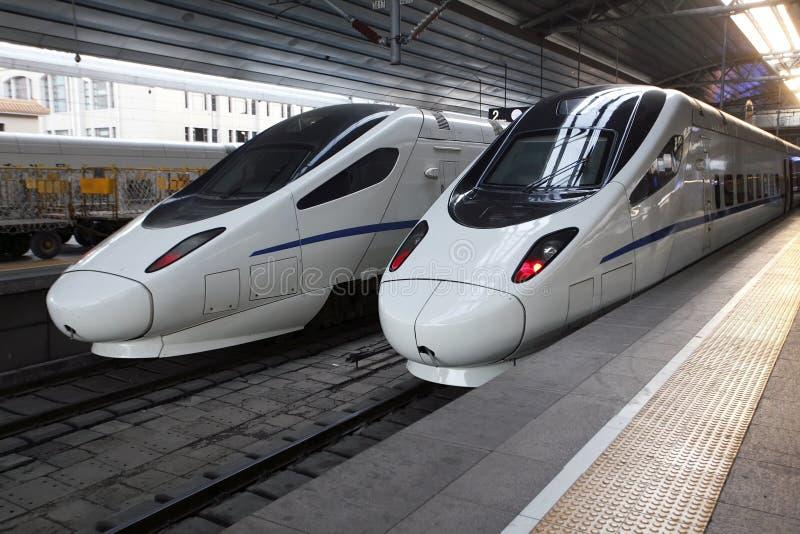 prędkość chiński wysoki pociąg obraz stock