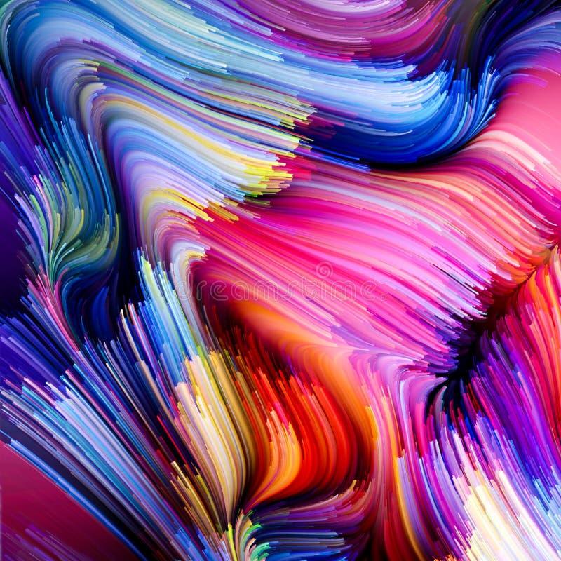 Prędkość Ciekły kolor ilustracja wektor