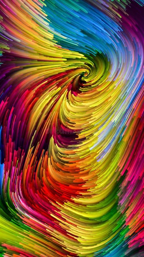 Prędkość Kolorowa farba royalty ilustracja