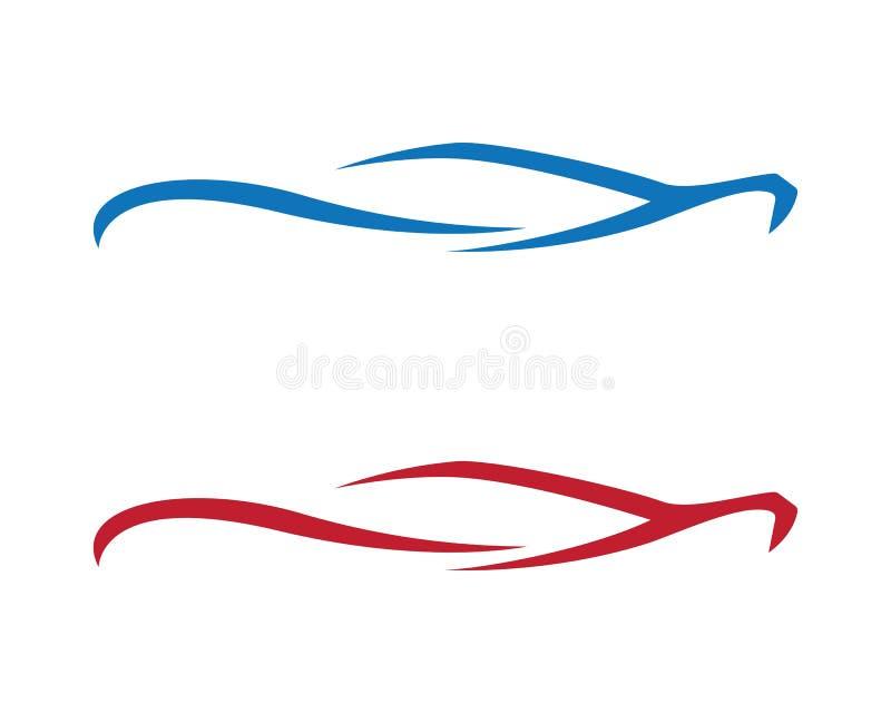 Prędkość loga auto samochodowy szablon ilustracji