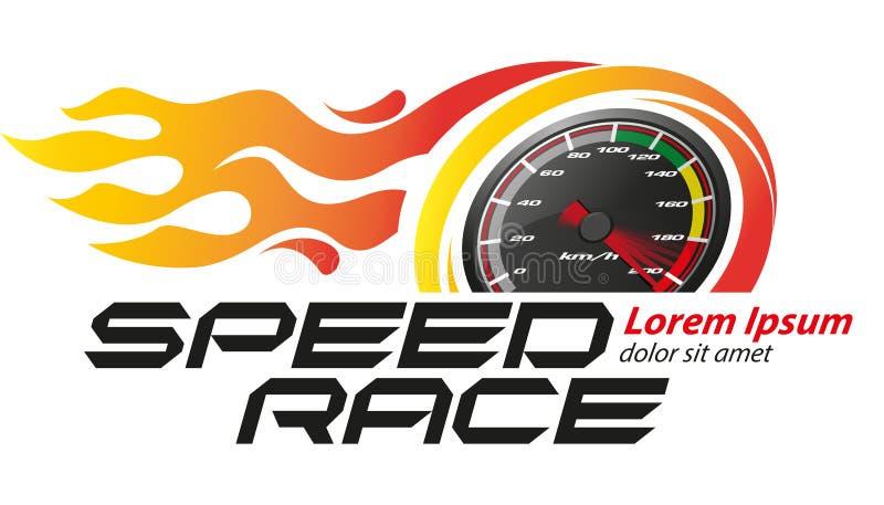 Prędkość loga Bieżny wydarzenie ilustracji