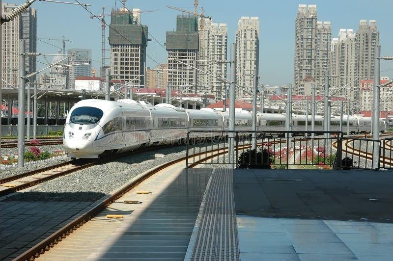 prędkość porcelanowy wysoki pociąg zdjęcia royalty free