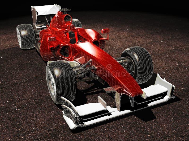 prędkość samochodowi wysocy sporty depeszowali royalty ilustracja