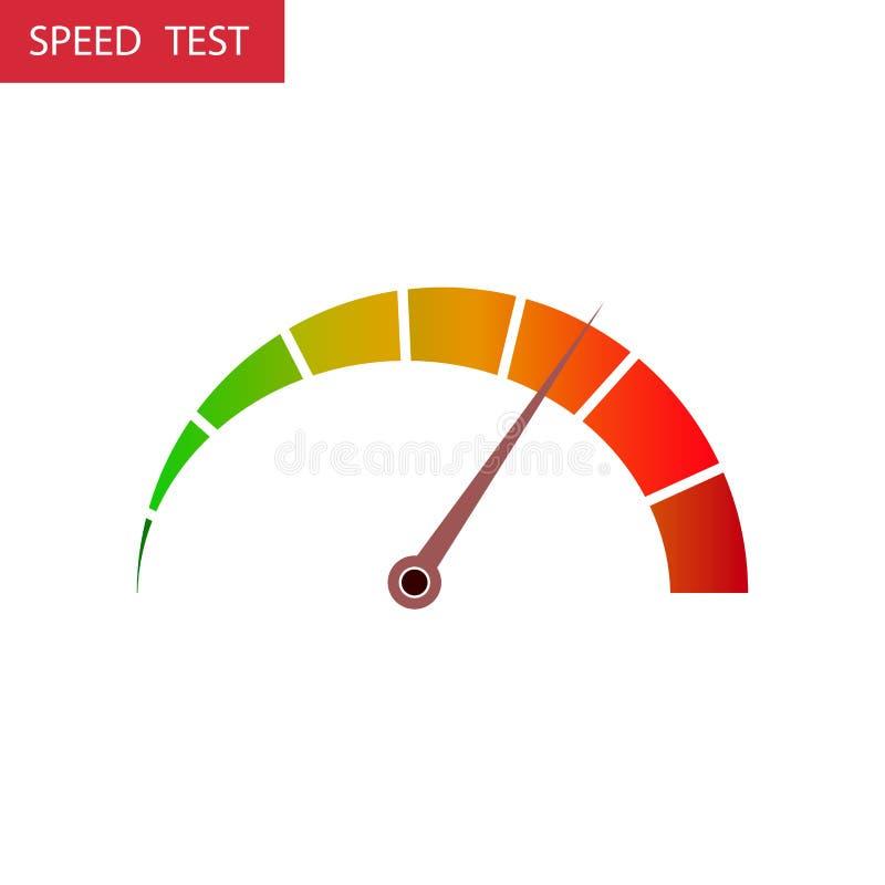 Prędkość testa strzała royalty ilustracja