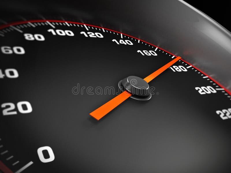 Prędkość wymiernik ilustracja wektor