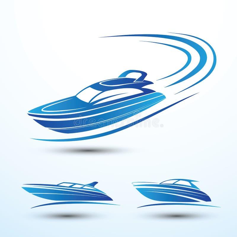 Prędkości łódź royalty ilustracja