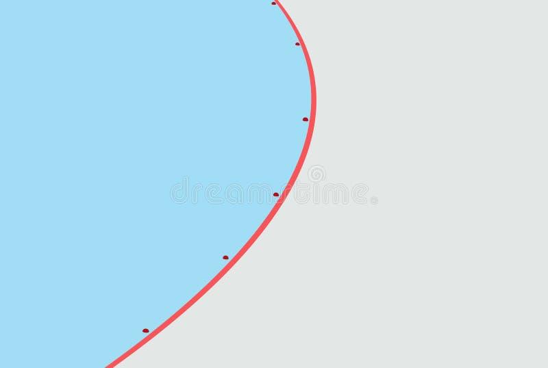 Prędkości łyżwiarski lodowisko ilustracja wektor