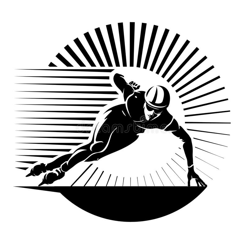 Prędkości łyżwiarstwo ilustracji