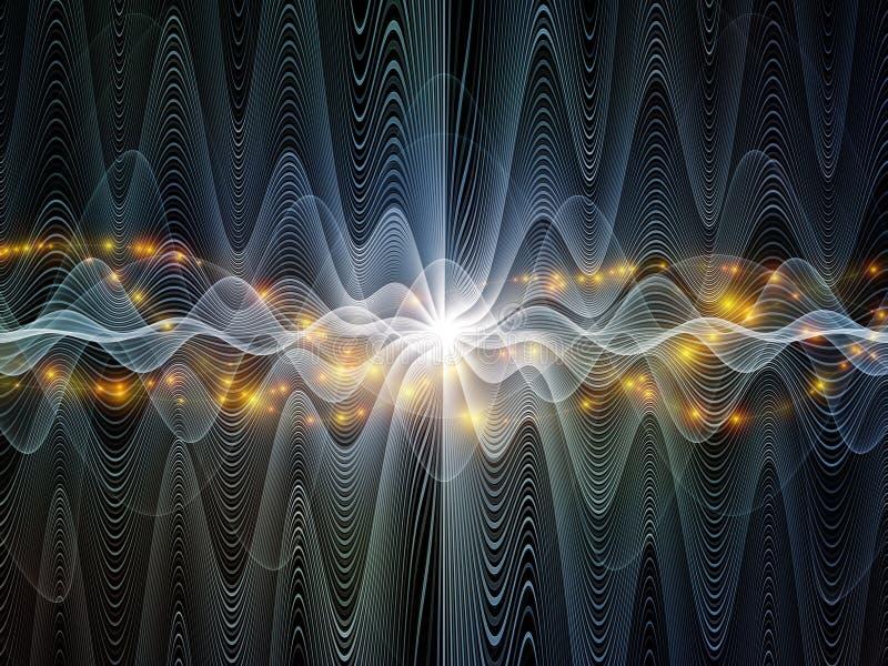 Prędkości Światła fala ilustracji