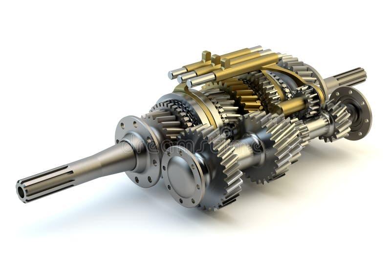 Prędkości gearbox na odosobnionym ilustracji