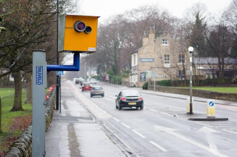 Prędkości kamera na miastowej drodze obraz royalty free