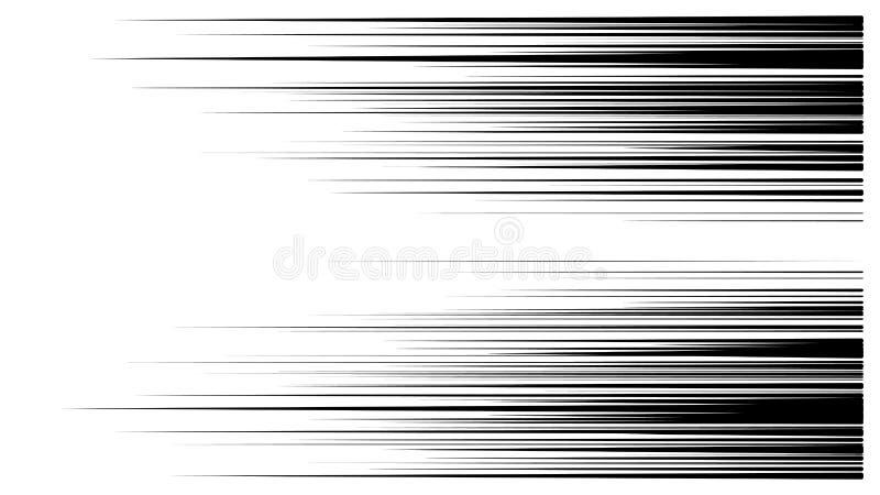 Prędkości linii kreskówki skutka komiczny wektor ilustracji