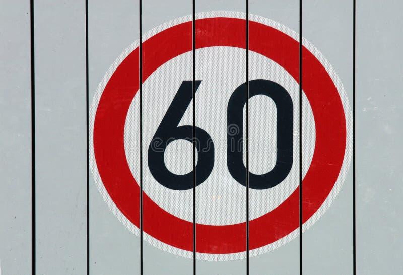 Prędkości ograniczenia znak zdjęcie stock