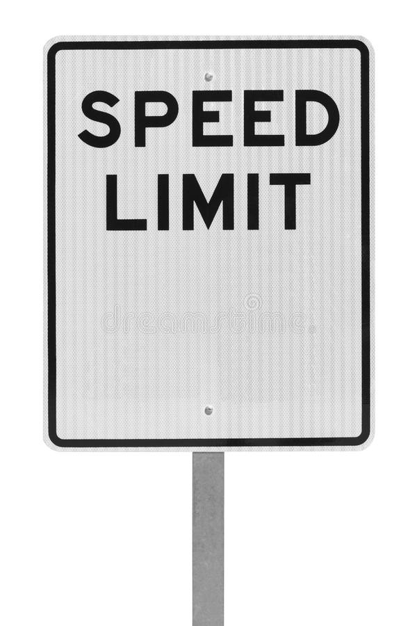 Prędkości ograniczenia znak fotografia royalty free