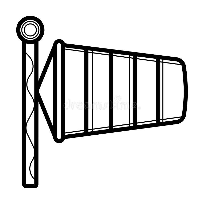 Prędkości Wiatru Chorągwiana ikona royalty ilustracja