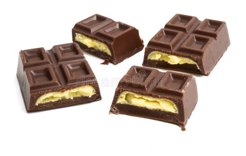 prętowa czekolada odizolowywał zdjęcie stock