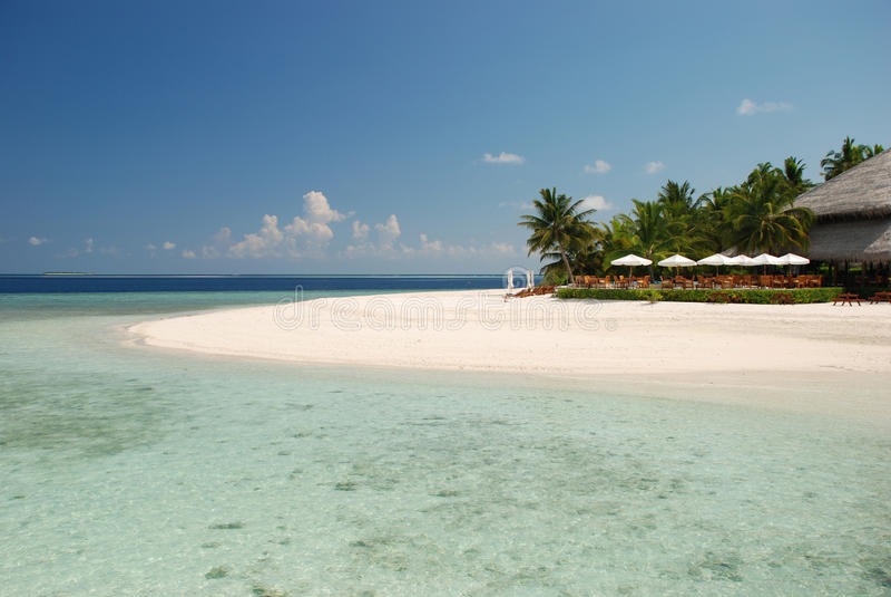 prętowa plaża Maldives zdjęcie royalty free