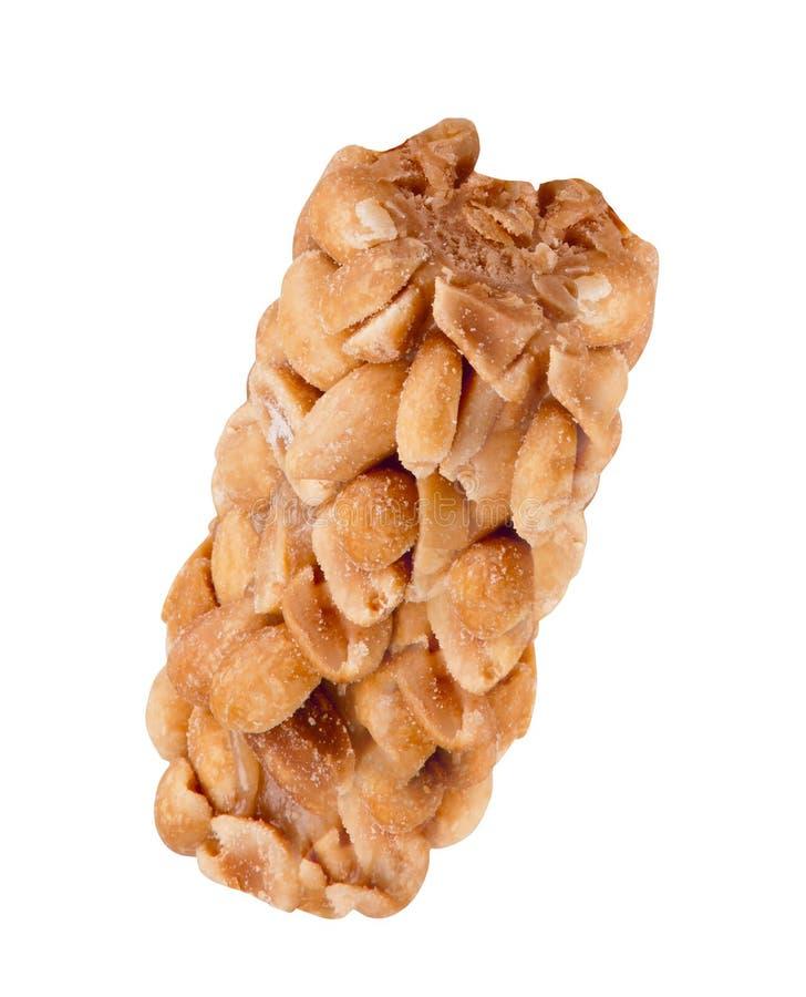 prętowego granola odosobniony biel obraz stock