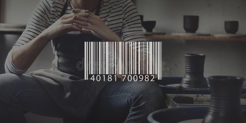 Prętowego kodu Cyfrowego metki informaci Handlowy pojęcie obraz stock
