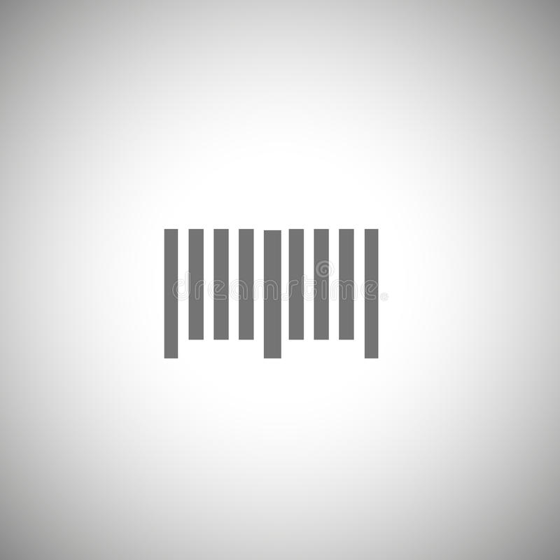 Prętowego kodu ikona Prosty prętowego kodu piktogram ilustracji