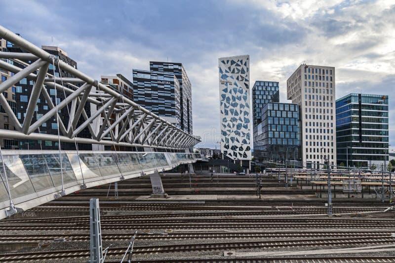 Prętowego kodu most w Oslo fotografia royalty free