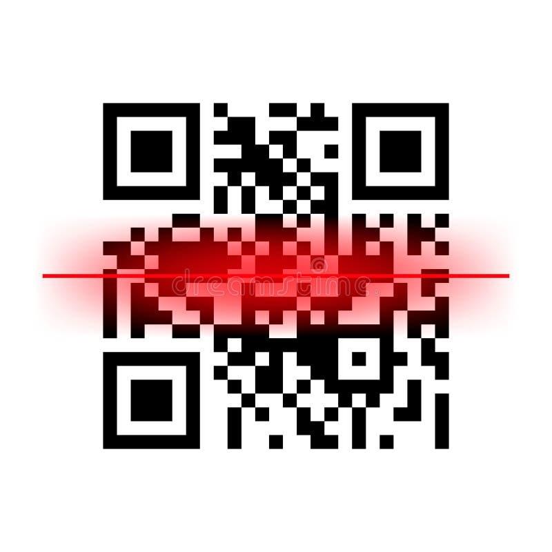 Prętowego kodu skanerowania kodu wektorowy cyfrowy obraz cyfrowy ilustracja wektor