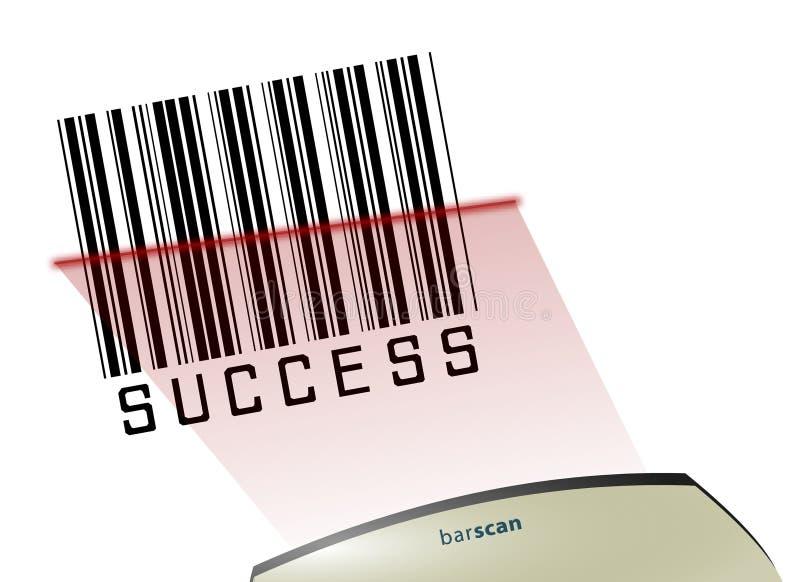 prętowego kodu sukces royalty ilustracja