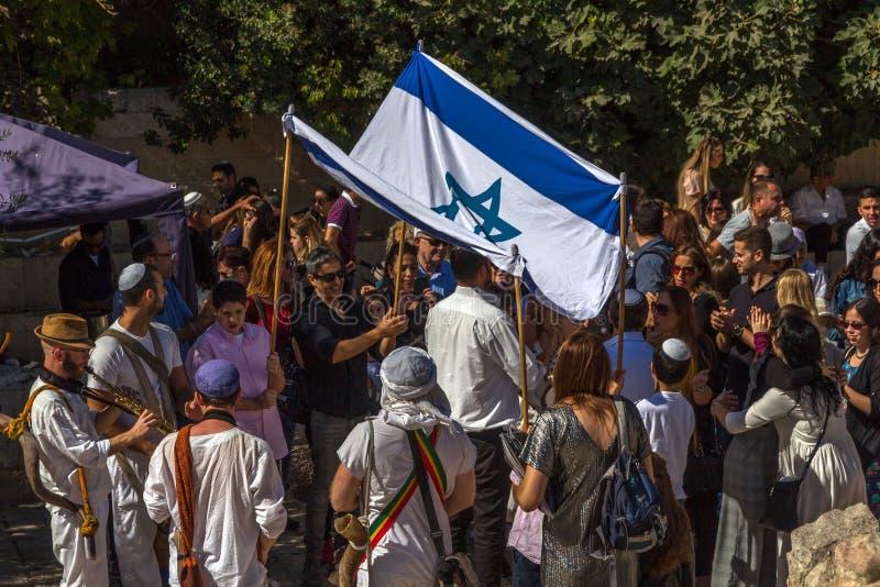 Prętowego Mitzvah świętowanie przy Zachodnią ścianą, obraz royalty free