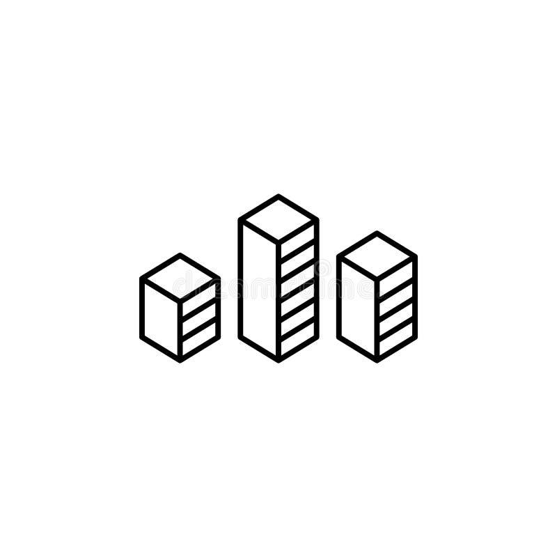 Prętowego wykresu finanse konturu ikona Element finansowa ilustracyjna ikona znaki, symbole mogą używać dla sieci, logo, mobilny  royalty ilustracja