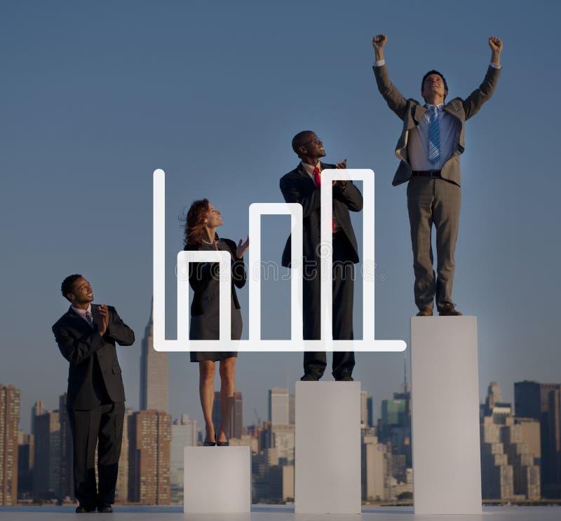 Prętowego wykresu marketing Analizuje przyrosta Przyrostowego pojęcie zdjęcie stock