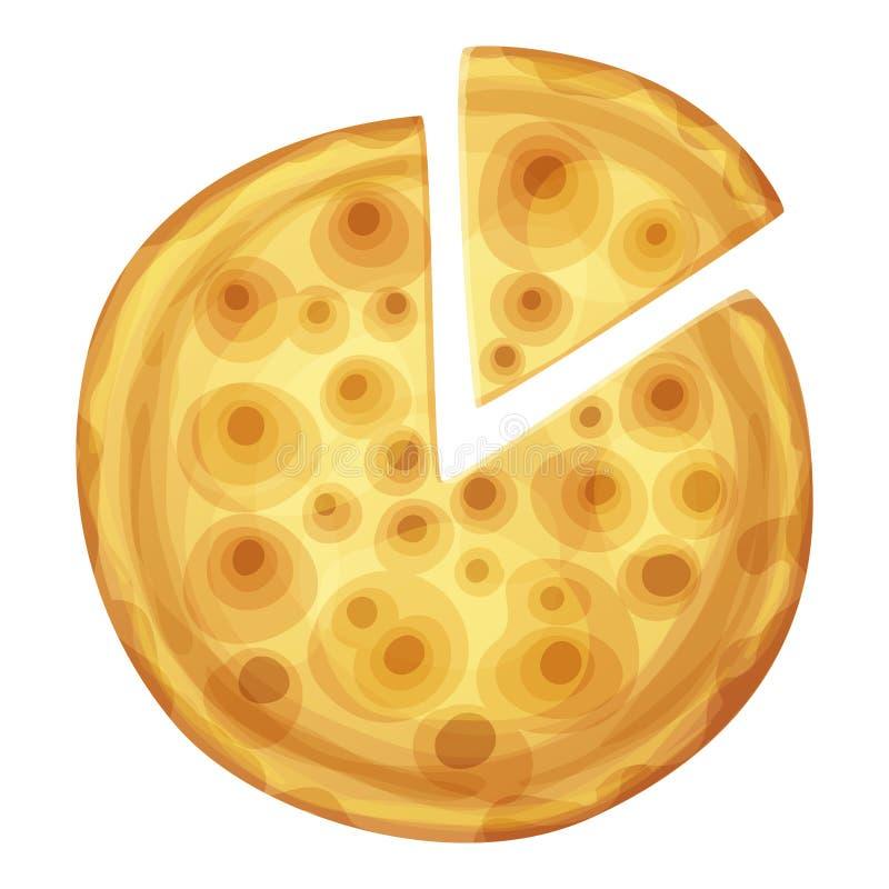 Prętowej pizzy odgórny widok Kreskówki wektorowa karmowa ilustracja odizolowywająca royalty ilustracja