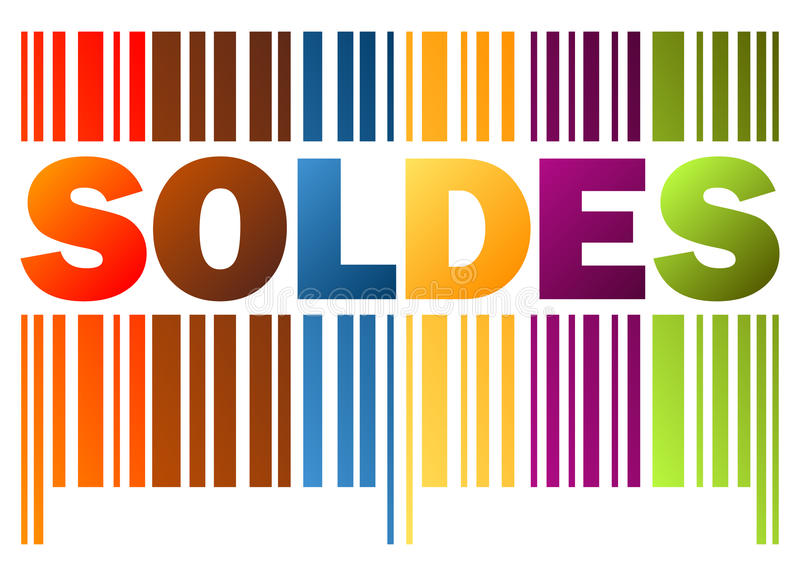 prętowy kod SOLDES ilustracji