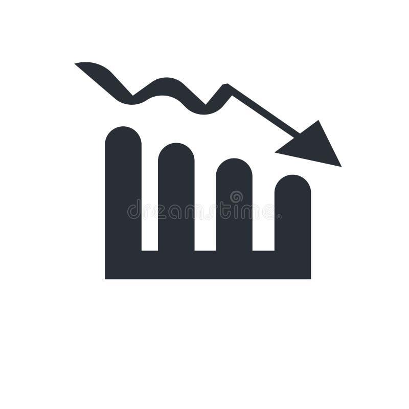 Prętowy Stats ikony wektoru znak i symbol odizolowywający na białym tle, Prętowy Stats logo pojęcie royalty ilustracja