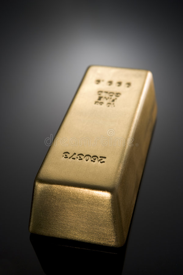 prętowy złoto obraz stock