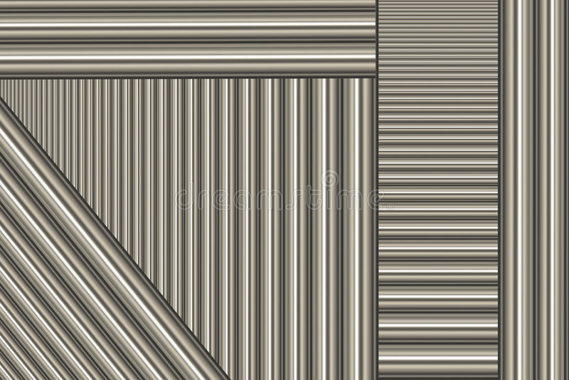 pręty aluminium ilustracja wektor