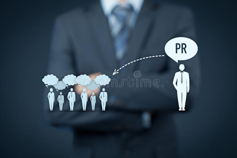 PR связей с общественностью стоковое изображение rf