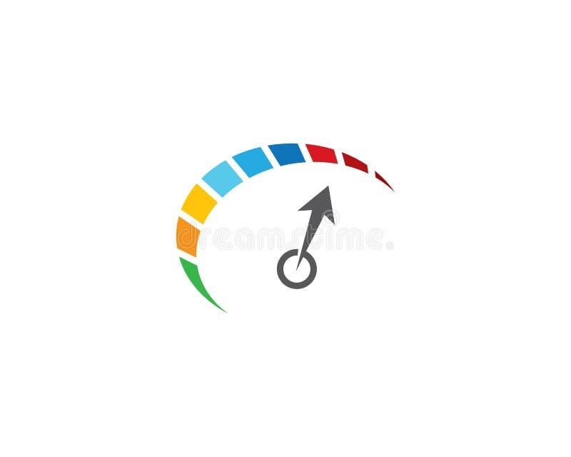 Pr?dko?? logo szablon royalty ilustracja
