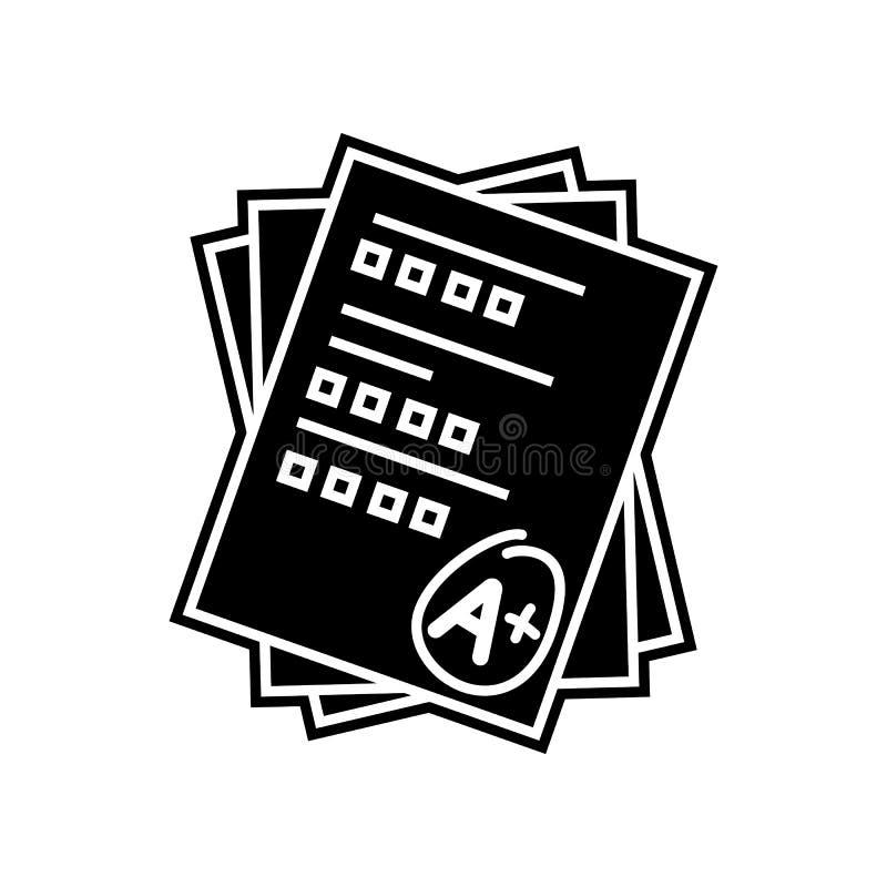Pr?fungsergebnis-Stiftikone Element der Bildung f?r bewegliches Konzept und Netz apps Ikone Glyph, flache Ikone f?r Websiteentwur vektor abbildung