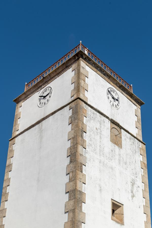 Pr?gierz i urz?d miasta budynek Vila Nova de Foz Coa fotografia royalty free