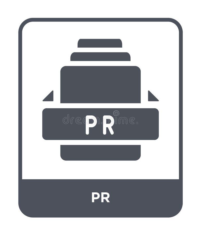 pr ikona w modnym projekta stylu pr ikona odizolowywająca na białym tle pr wektorowej ikony prosty i nowożytny płaski symbol dla  ilustracji