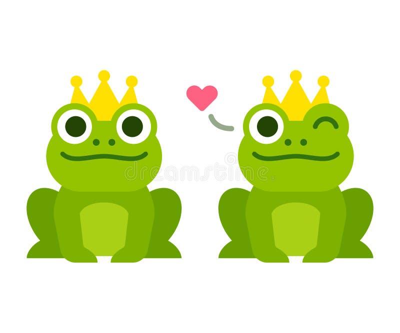 Pr?ncipe lindo de la rana ilustración del vector
