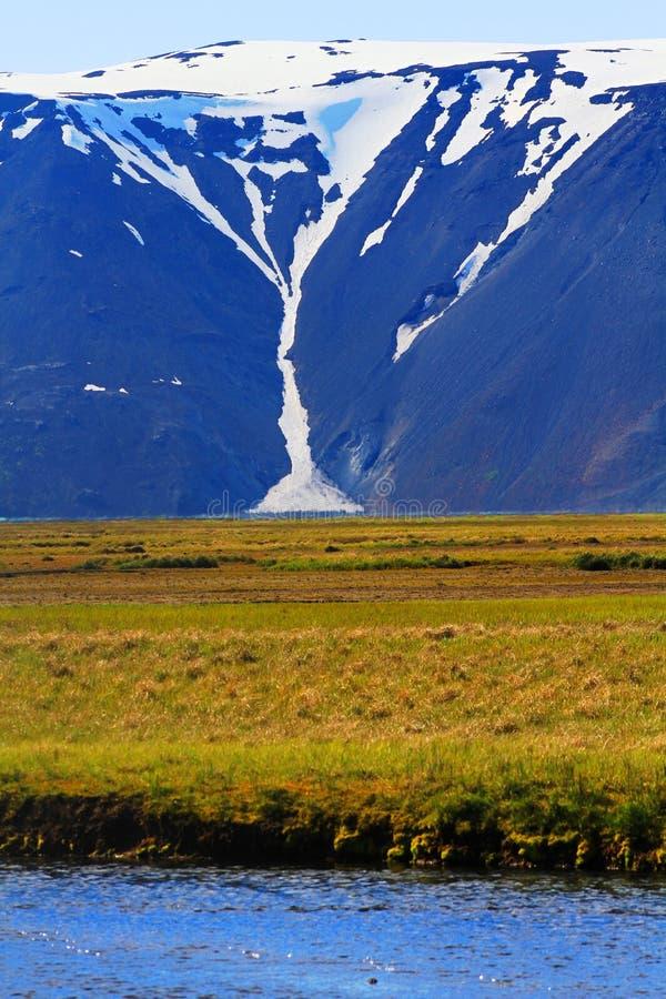 Pr?s de la hutte de Hvitarnes, l'Islande photo stock