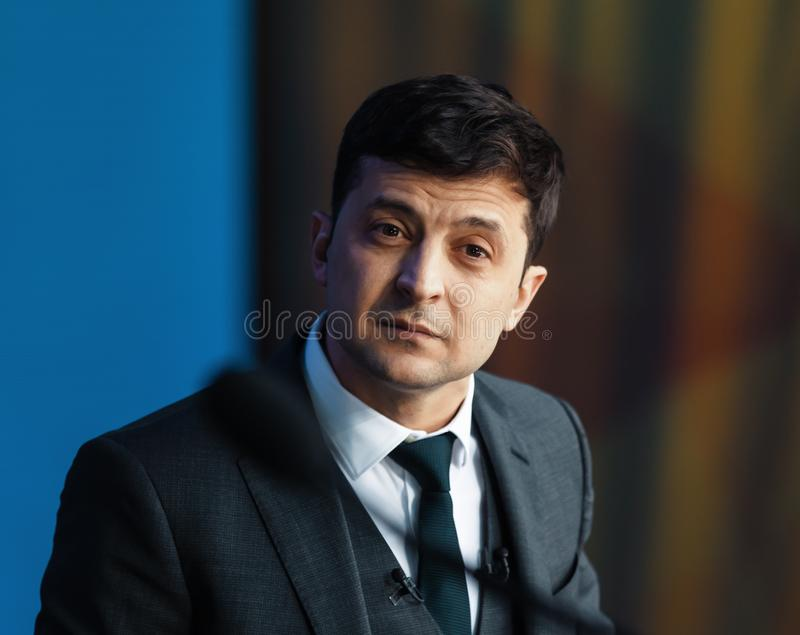 Pr?sident nouvellement ?lu de l'Ukraine Vladimir Zelensky photos libres de droits