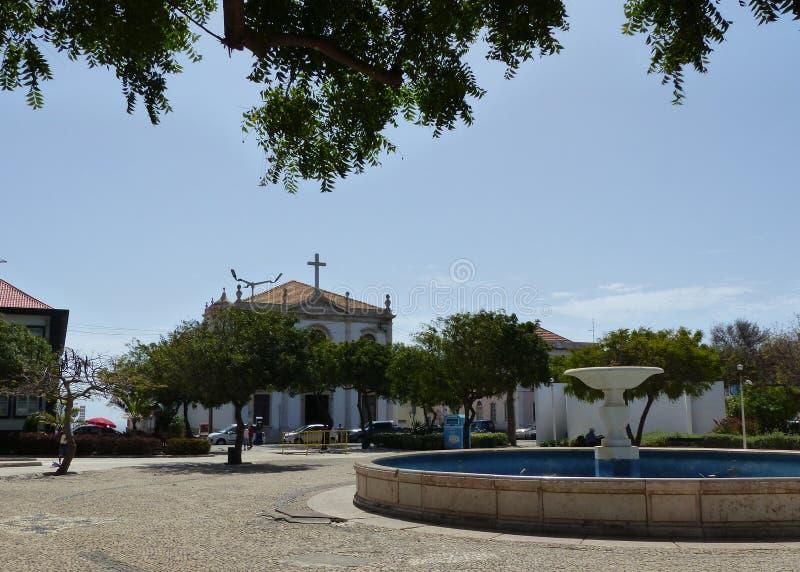 Praça Alexandre Albuquerque, Praia, Kap Verde fotografering för bildbyråer