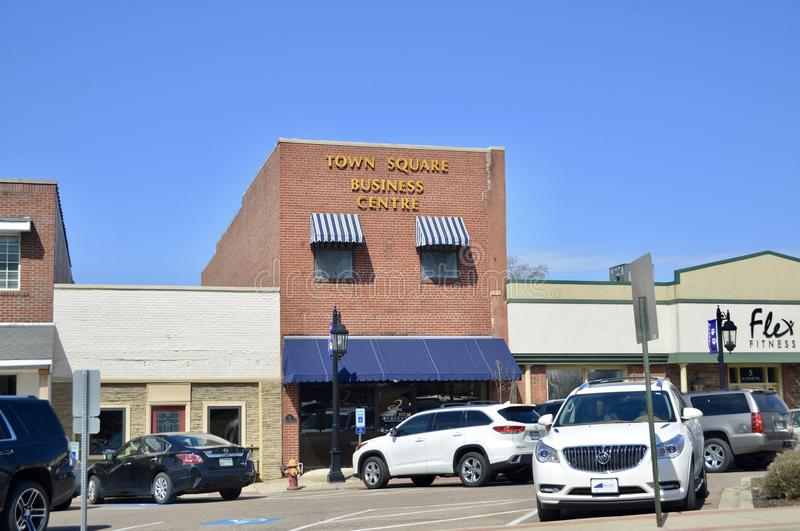Praça da cidade, Brownsville, Tennessee imagens de stock